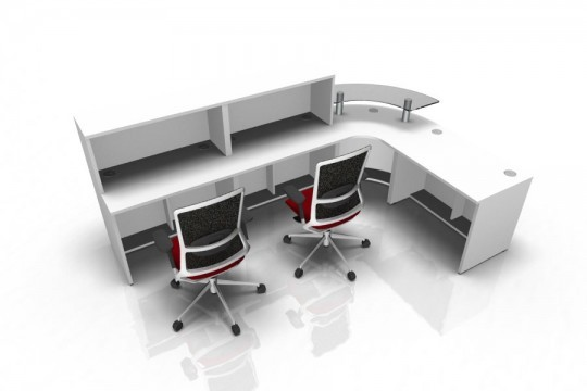 Reception Desk Render