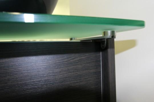 Dark Oak Reception Desk