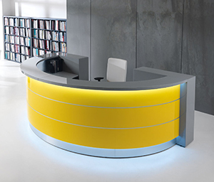 Valde Reception Desk Yellow