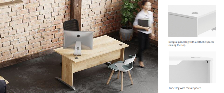 Oslo cantilver desk Footer Image Office Reality