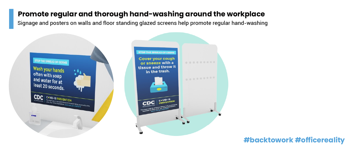 1.Promote regular and thorough hand-washing by employees, contractors and customers.