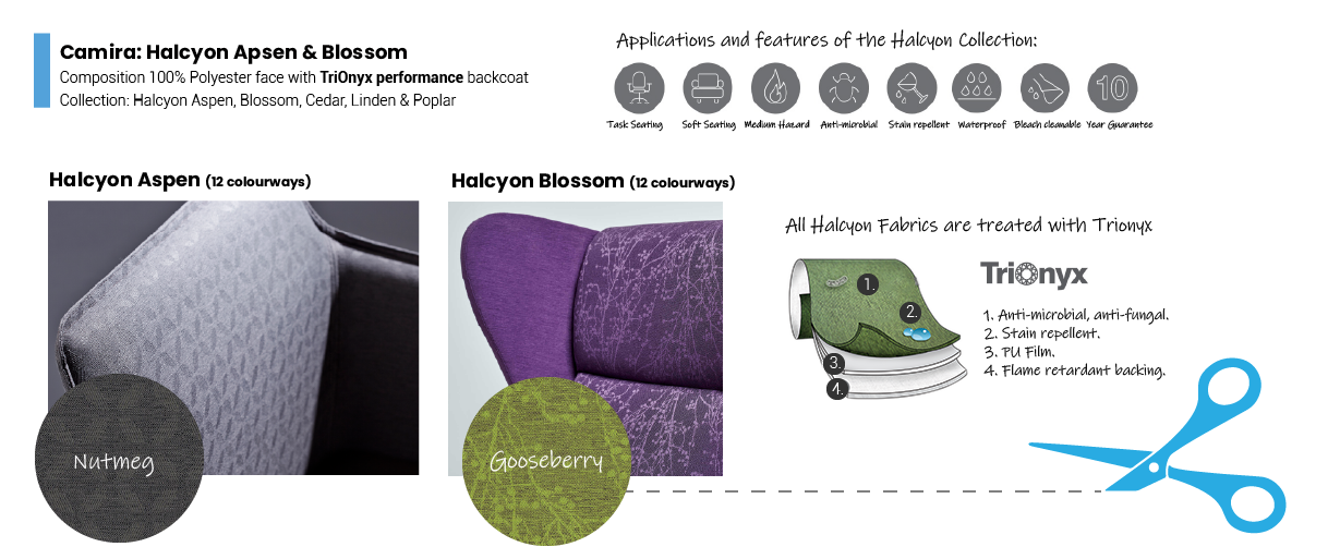 Camira Halcyon Antimicrobial Fabric