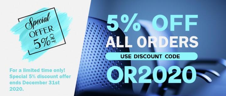 NEW UPDATE 5 % DISCONT BANNER BLUE