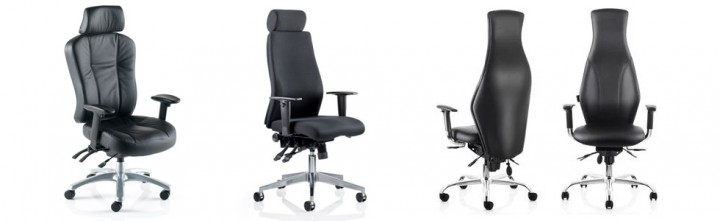 24 hour chairs black leather