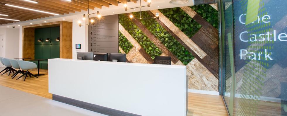 Moss Wall Behind Reception