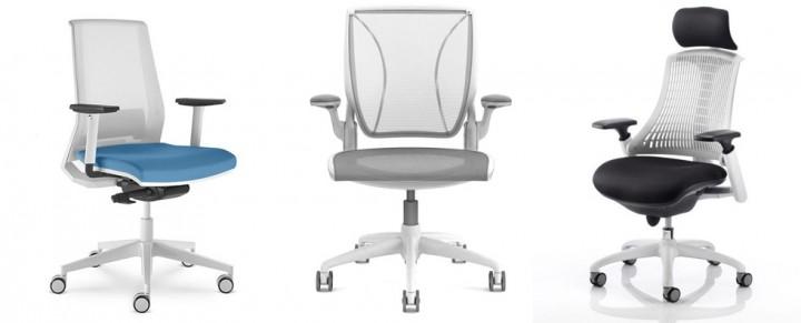 Mesh White Colour Chairs