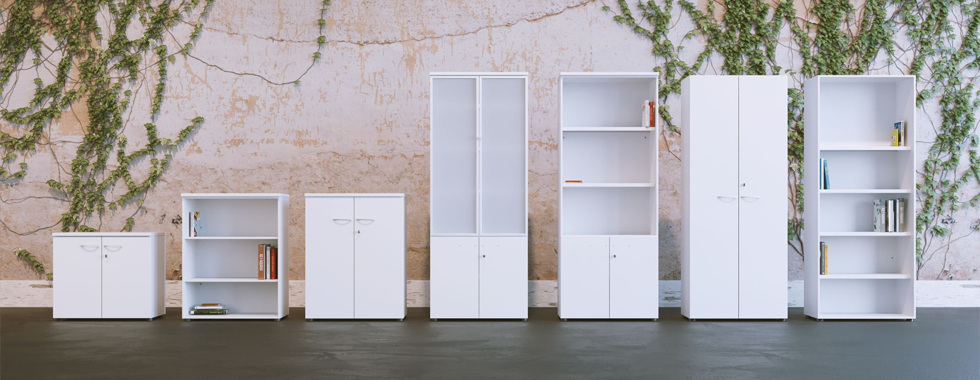 Office Storage Ideas For an Organised Workplace Blog Image - Combination Units