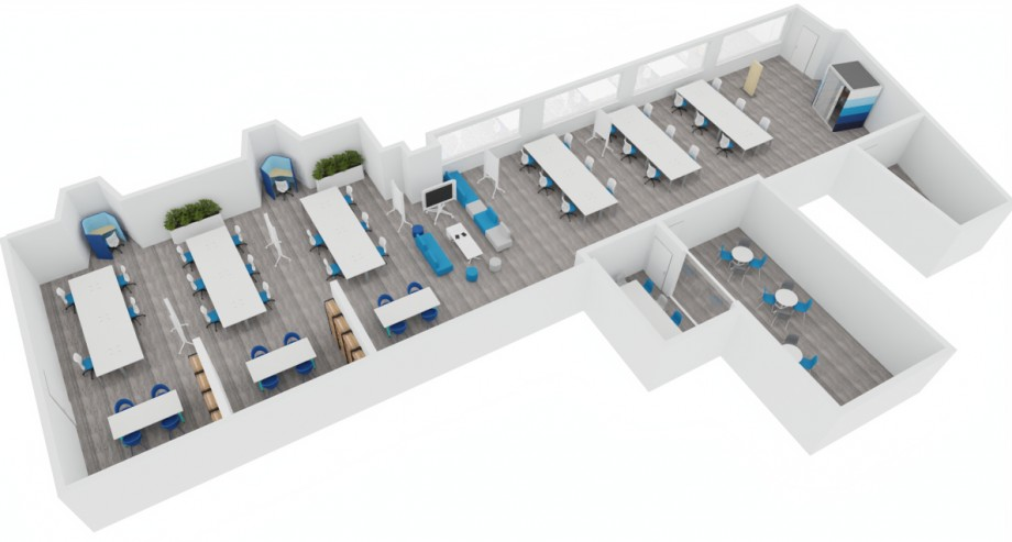 Experiment Zoned Open Plan Office 1B