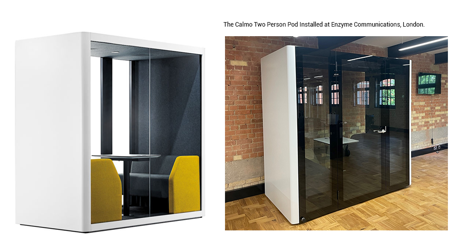 Calmo Two Person Pod at Enzyme Communications, London