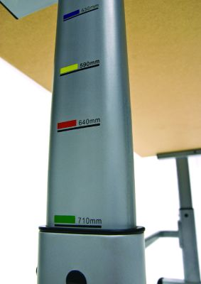 Height Adjustable Table - Measurements Close Up1