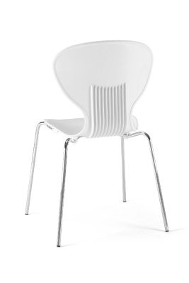 Mood Chair White Rear View Frovi