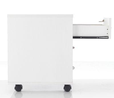 White Pedestal Open Drawer
