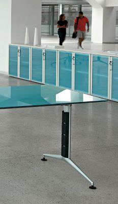 Blue Glass Door Cupboards