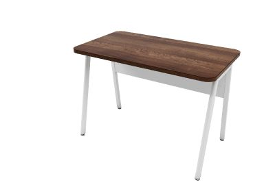 Fashionable Desk Return In A Striking Walnut Finish