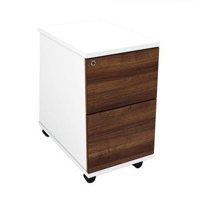 Distrikt Two Drawer Under Desk Pedestal In A Rich Walnut Finish