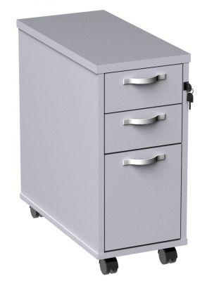 White Slim Pedestal Drawers