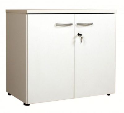 C01 White Low Cupboard