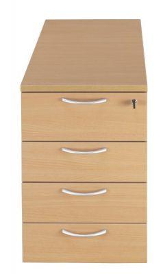 C01 Beech Four Drawer Desk Pedestal