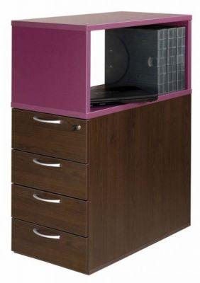 C01 4 Drawer Desk Pedestal And Top Box Storage