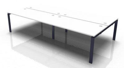 Saturn 4 Person Bench Desk White Top