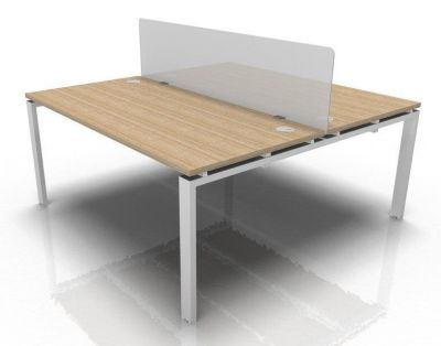 Two Person Bench And Acrylic Screen