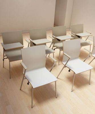 Sven Laminated Plywood Chairs With Writing Tablet