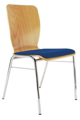 Wing Conference Chair With Upholstered Seat