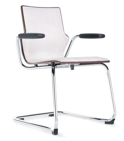 Converse Upholstered Plywood Conference Chair With Open Arms