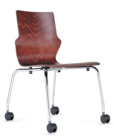 Converse Mobile Walnut Conference Chairs