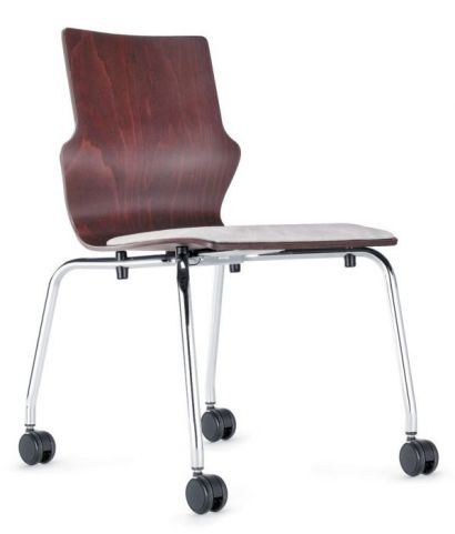 Converse Mobile Plywood Conference Chair With An Upholstered Seat