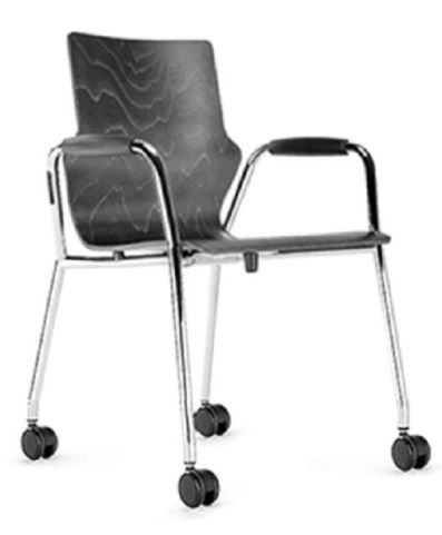 Converse Mobile Conference Chair With Closed Arms