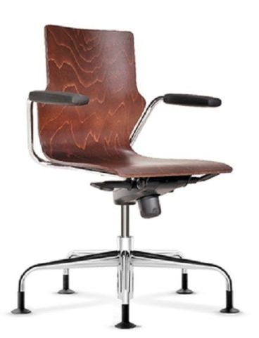 Converse Swivel Plywood Conference Chair With Open Arms