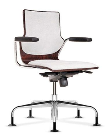 Converse Designer Swivel Armchair With An Upholstered Seat And Back