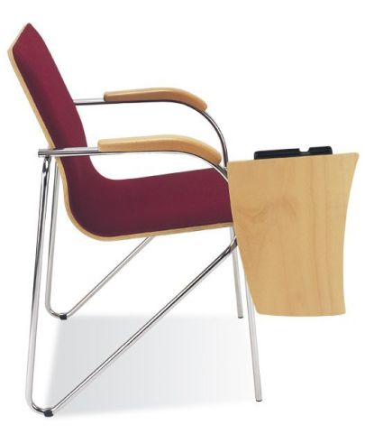 Samba Plus Conference Chair With Writing Tablet Side View
