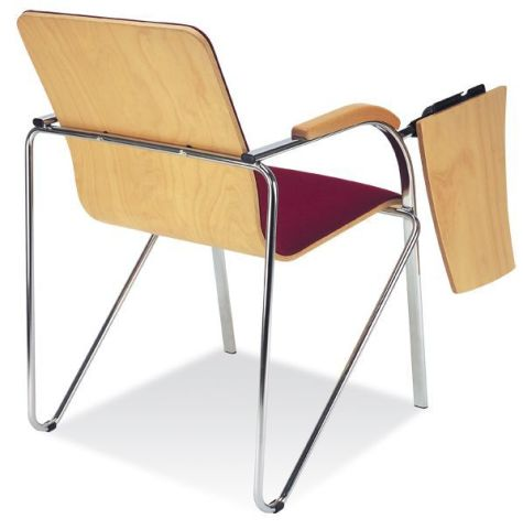Samba Plus Conference Chair And Writing Tablet Rear View