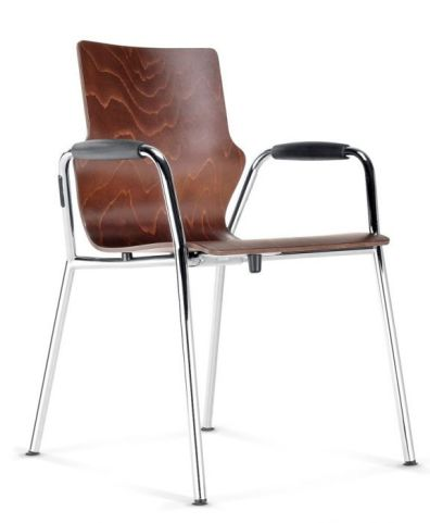 Converese Wooden Conference Chair With Arms