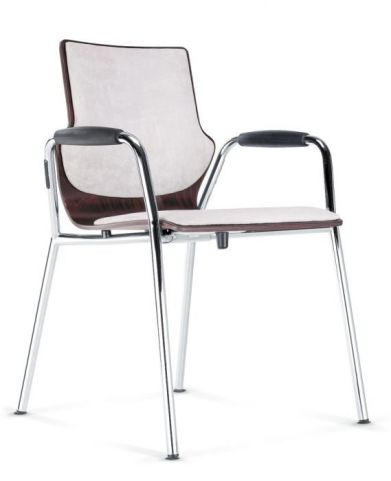 Converse Designer Conference Armchair With Upholstered Seat And Back And Closed Arms