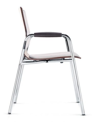 Converse Designer Armchair With Fabric Seat And Back - Side View