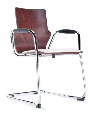 Converse Cantilever Chair With An Upholstered Seat