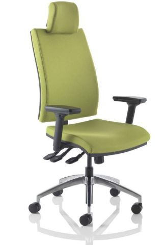 Omega High Back Task Chair With Headrest