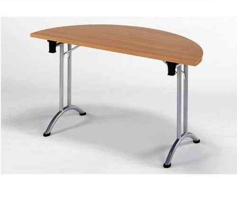 Union Half Moon Folding Meeting Room Table In Beech