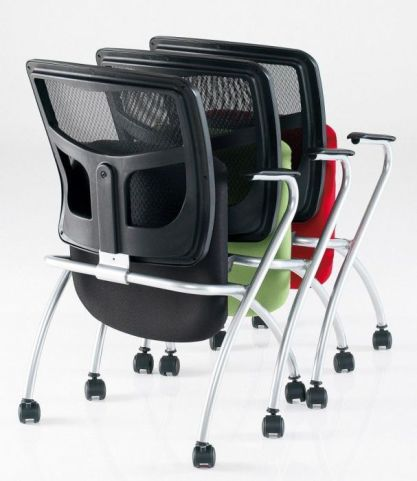 Stylish Convoy Mesh Back Conference Chair With Mounted Castors