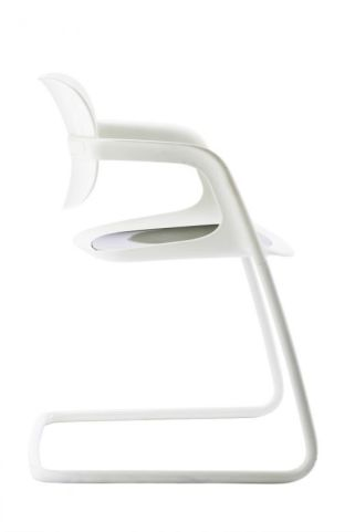 Stylish Soul White Polypropylene Conference Chair With White Frame