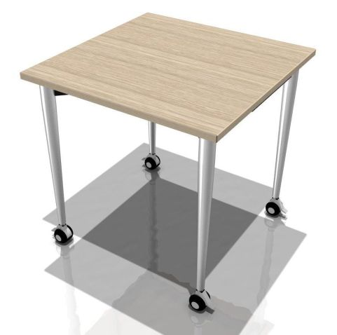 Flexible Kite 750 Square Folding Table With Tapered Legs In A Light Oak Finish