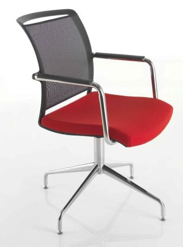 Exile Mesh Back Conference Chair With A Four Star Swivel Base