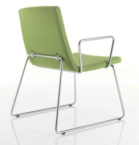 Mars Designer Armchair With Sled Frame