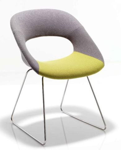 Oyster Designer Chair With Sled Base