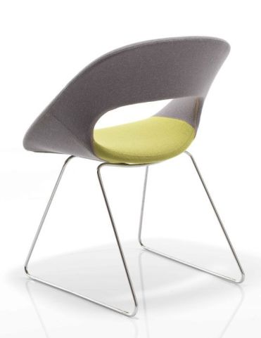 Oyster Sled Base Designer Chair Rear View