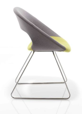 Oyster Designer Chair With Sled Base Side View