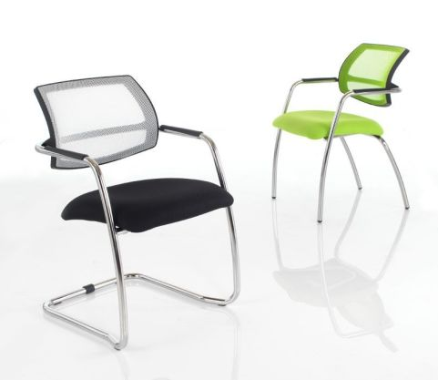 Jaxa Conefernce Chair With A White Mesh Back